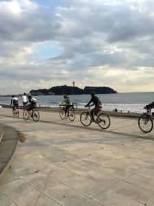 皆で湘南海岸サイクリング